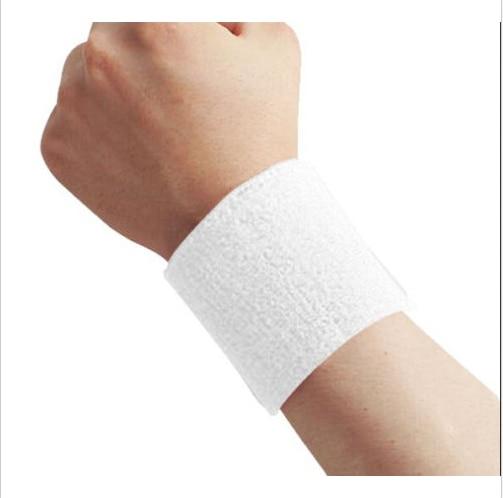 1 Uds. De algodón muñequeras protectoras banda para el sudor deportiva banda para la mano sudor muñequera soporte envoltura protectores gimnasio voleibol baloncesto