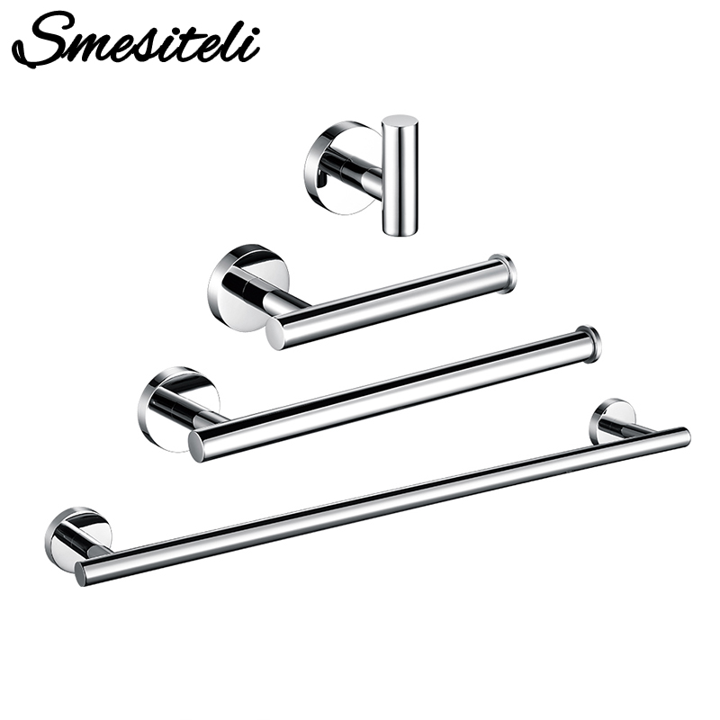 Polished Chrome Stainless Steel Toilet Paper Holder Wall Hook Towel Holder Rack Wall Mounted Kitchen Bathroom WC Accessories