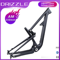 2019 Full Suspension Bike Frame 29er BSA Carbon Fiber All Mountain Bike Frame Travel MTB Bicycle Frameset 148*12mm 150mm Boost