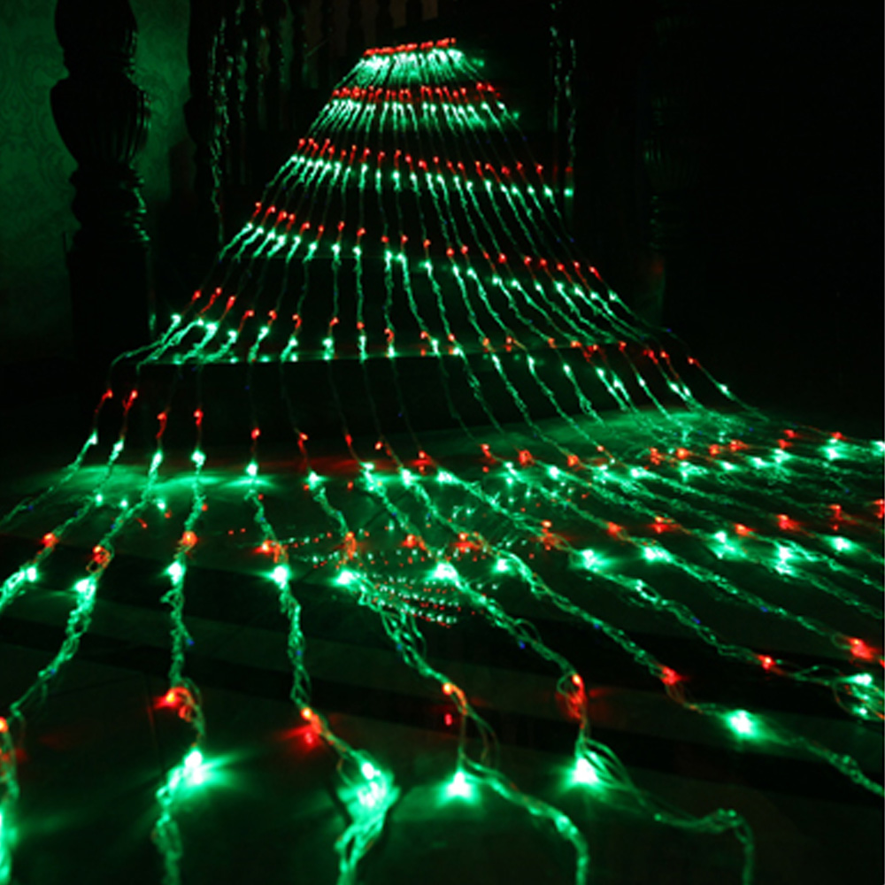 Christmas LED Waterfall Meteor Shower Rain String Light 3*3M 320 Led Wedding Curtain Icicle Fairy Garland Waterproof Strings