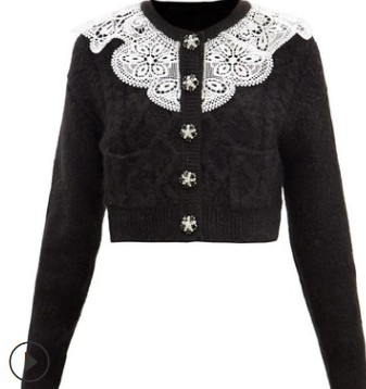 2021 New arrive high quality blue/white/black knitting sweater 2