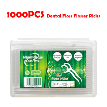 1000pcs New Dental Floss Flosser Picks Teeth Toothpicks Stick Tooth Clean Oral Care 7.5cm Dental Cleaning Toothpicks Floss Picks