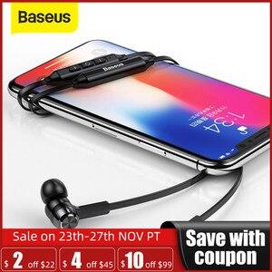 Image 1 - Baseus S06 Neckband Bluetooth אוזניות אלחוטי אוזניות לxiaomi iPhone אוזניות סטריאו auriculares fone דה ouvido עם מיקרופון