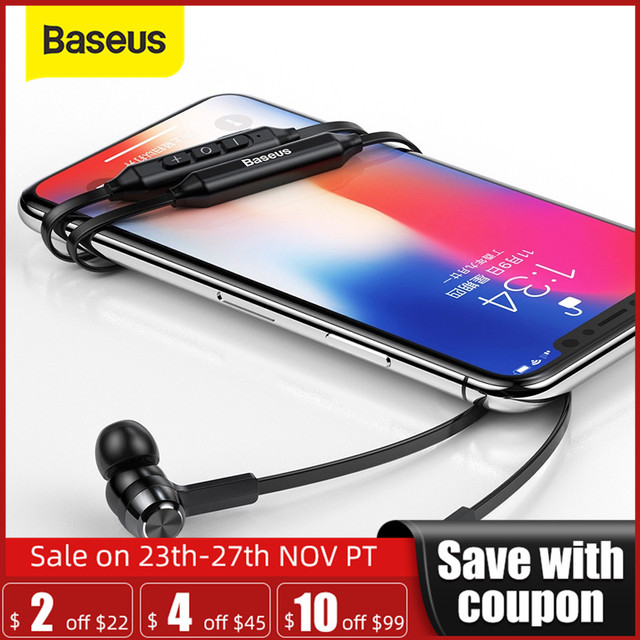 Baseus S06 Neckband Bluetooth אוזניות אלחוטי אוזניות לxiaomi iPhone אוזניות סטריאו auriculares fone דה ouvido עם מיקרופון