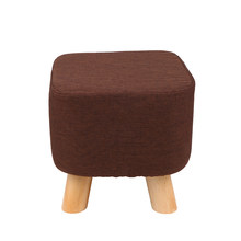 28x28cm Square Stool Wooden Bedroom Dining Furniture Shoe Rack Footstool Soft Pouf Beach Ottoman Makeup Chair (4 legs)(China)