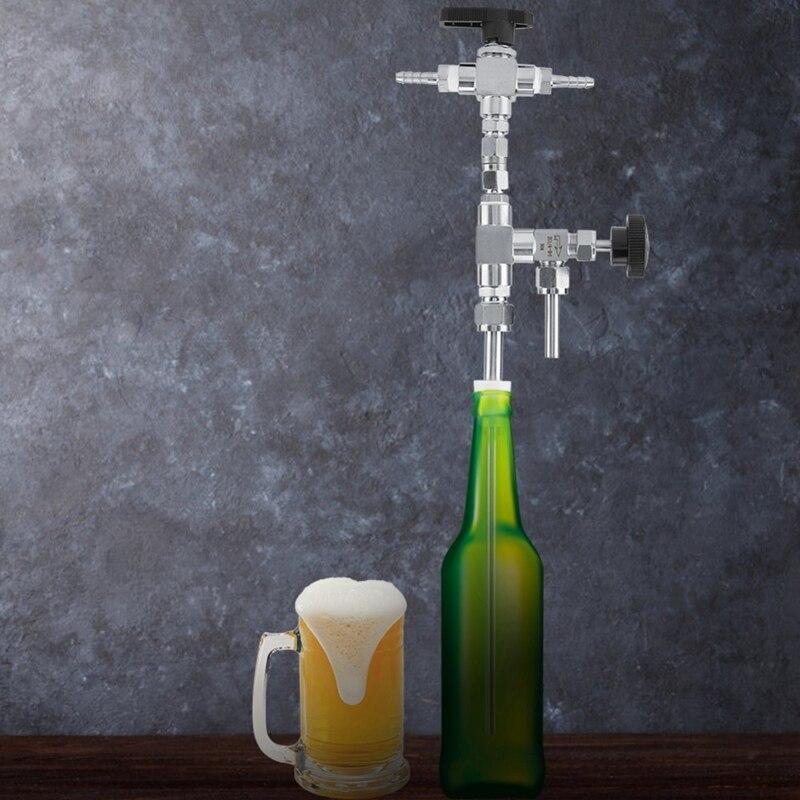Stainless Steel Counter Pressure Beer Bottle Filler CO2 Beer Brewing Kit