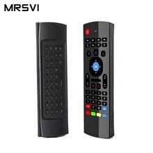 MX3 2.4 Ghzair Chuột Bàn Phím Điều Khiển Từ Xa Không Dây Chơi Game Mới Xuất Hiện Cho Android TV Box IPTV