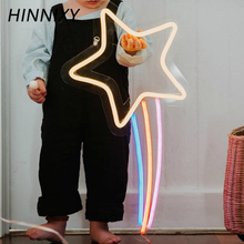 Hinnixy 45 Styles 3D Neon Lamp LED Night Lamp Unicorn Elephant Neon Sign Girl Bedroom Home Party Decor Night Lights Baby Gift
