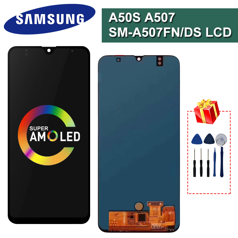 A50S Super AMOLED For Samsung Galaxy A50S A507 A507F Touch Screen Digitizer Display Assembly Parts For Galaxy A50S Display