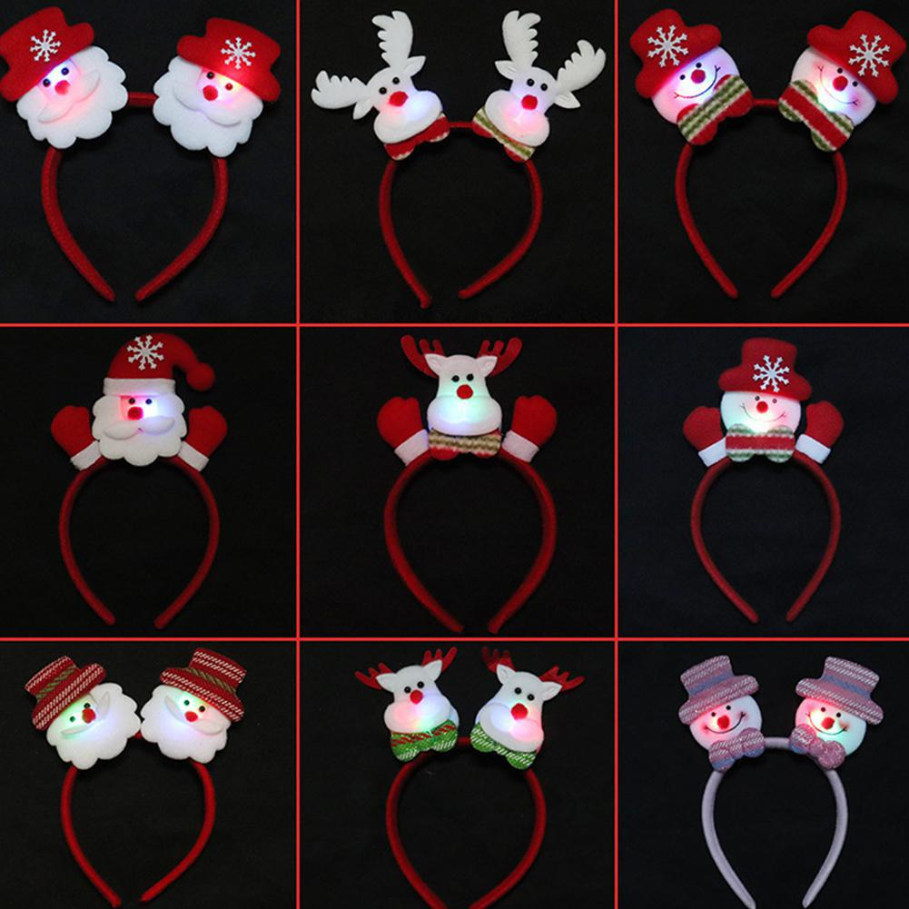 Adults Kids Christmas Headbands Santa Hoop Xmas Party Cosplay Prop Gifts