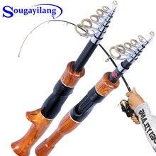 Sougayilang – canne à pêche Spinning/Casting télescopique de 1.6M, Mini canne à pêche portable de voyage avec poignée en liège