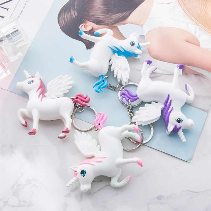 BS-698 jednorożec LED świeci dźwięku, dzięki czemu yao chi kou dai skrzydło mały biały koń wisiorek akcesoria Pegasus prezent