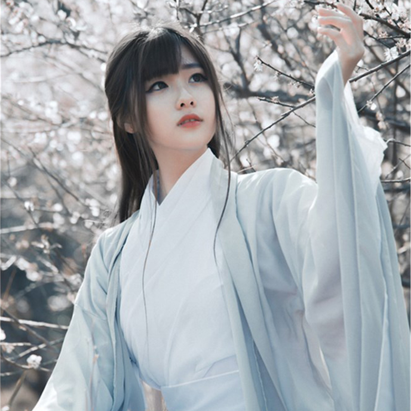 Chinese Traditional Folk Dance Costume Women Ancient Hanfu Dress Oriental Style Tang Dynasty Dance Clothing Girl Fairy Cosplay