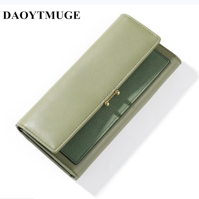 2020 New Large Capacity Spliced Model Mobile Phone Bag Clutch Bag Lady Purse