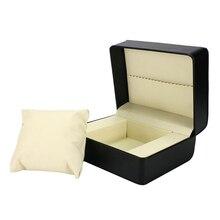 лучшая цена Black PU Leather Single Slot  Luxury Watch Box Winder Wristwatch Jewelry Holder Display Storage Organizer Gift