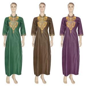 Image 2 - MD רקום פרח אפריקאי שמלות לנשים 2020 Bazin Riche דרום אפריקה בגדי גבירותיי שמלות אנקרה דאשיקי חלוק Boubou