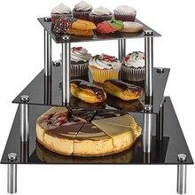 3 яруса стойка для торта стойка для демонстрации день рождения свадьба вечеринка день рождения фестиваль башня из кексов держатель для дисплея декор торта украшение Supp