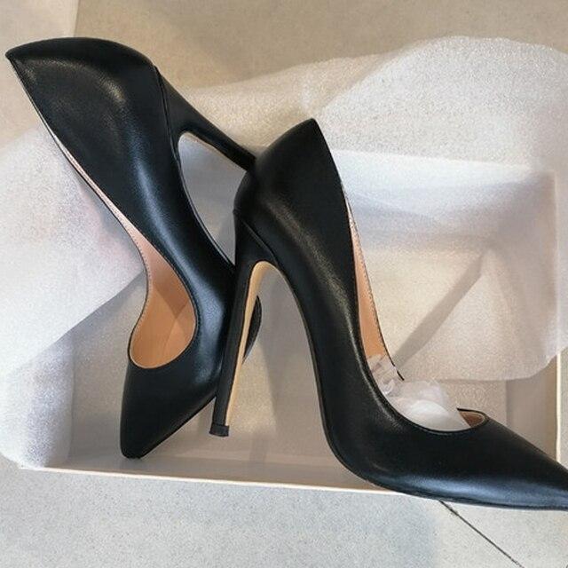 Женские туфли-лодочки  с острым носком на тонком каблуке 4