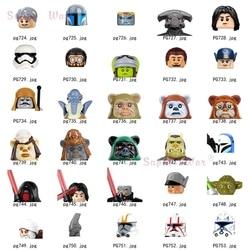 Único estrelas warricks wickets ewoks yodaes clonees storm troopers kylos figuras cabeça acessórios blocos de construção brinquedos série-117