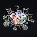 Мультяшные ювелирные изделия из фильма, браслеты Mulan для женщин, подвески, подвески, звено, цепочка, браслеты, браслет, браслеты, женские аксе...