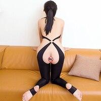 Durchsichtig Allure Catsuit Hohe Elastizität Sexy Frauen Porno Bodysuit Erotische Dünne Abschnitt Transparent Öffnen Gabelung Körper Bodys