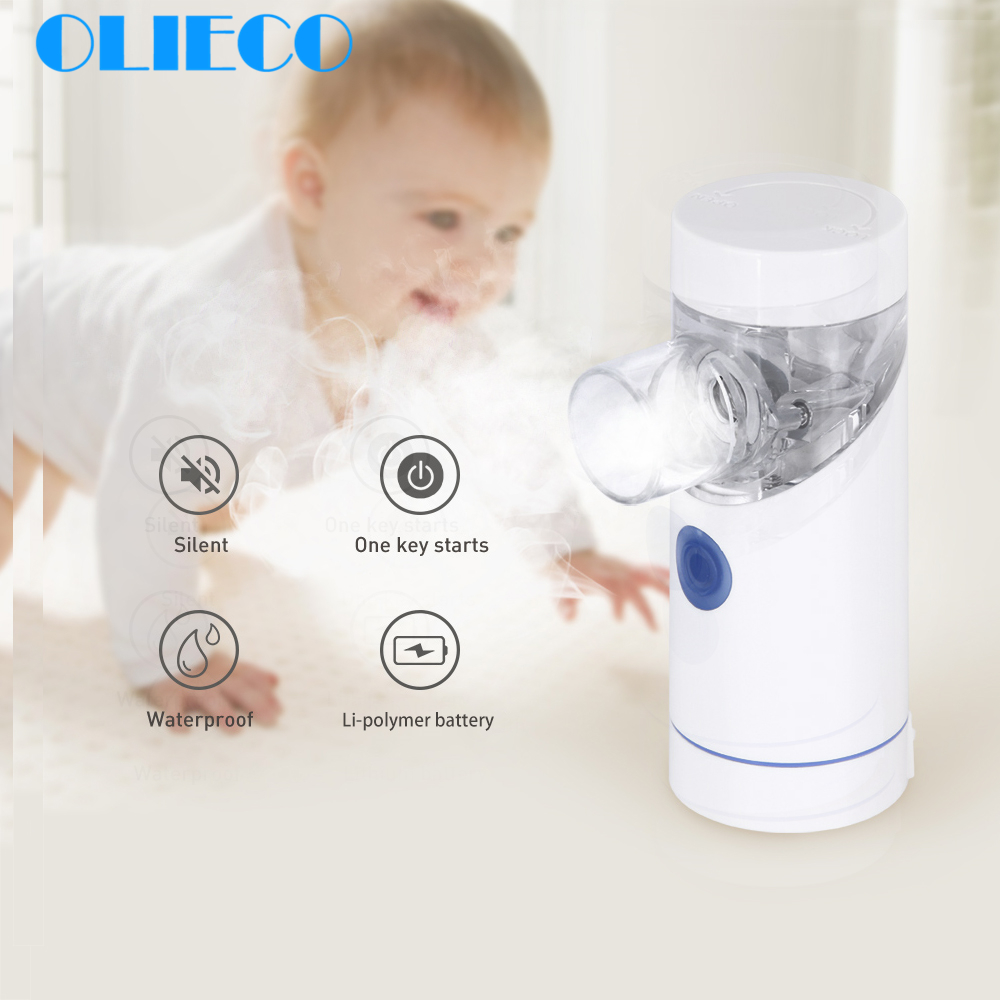 Micro Mesh Handheld Nebulizer USB Rechargeable Medical Mini Inhaler Silent Household Inalador Travel Nebulizador Baby Children