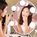 Светодиодный зеркальный светильник s в голливудском стиле  перезаряжаемый светильник  лампы для макияжа  туалетного столика  зеркальный св...