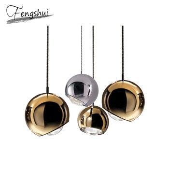 Современные металлические подвесные светильники дизайн лампы подвесное освещение гостиная столовая прикроватная Спальня бар Лофт Декор п...