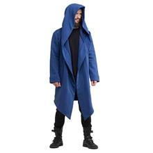 Autumn/winter New Men Hoodies Casual Solid Hooded Long Coat Slim Streetwear Male Hoodis Sweatshirt Hip Hop Fashion Clothing