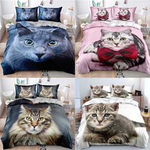 Bedding-Set Bed-Cover Queen Printting King Double-Bed Full-Twin-Size 3D of Pet-Cat Children