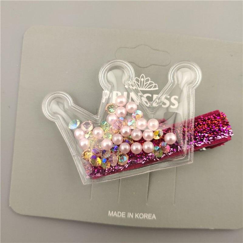 Kids Accessories Star Crown Glitter  Hair Clips  BB Hairpins Rainbow Barrettes