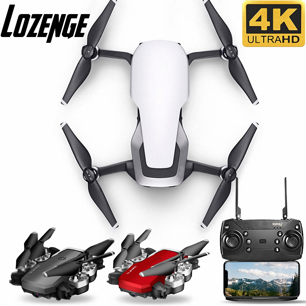 Lozenge HJ28 WIFI FPV Long Battery Foldable RC Drone Wide Angle Selfie Quadcopter Altitude Drone With Camera 4K Deone Camera Toy