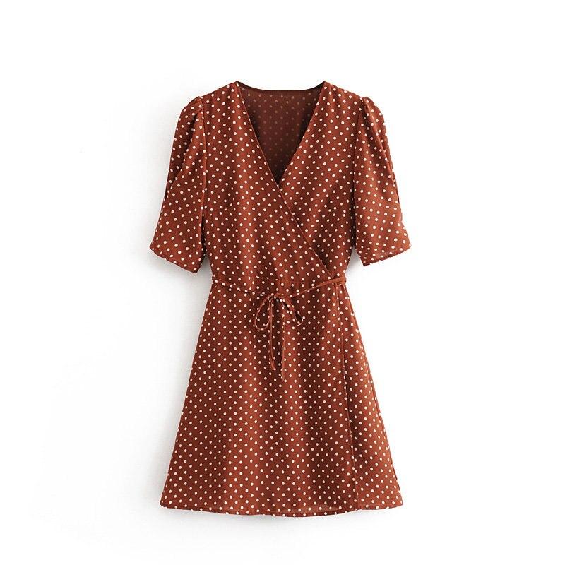 Haf5cda12dc204f96b1fd3a0a7486f2bbT Robe Vintage À Pois