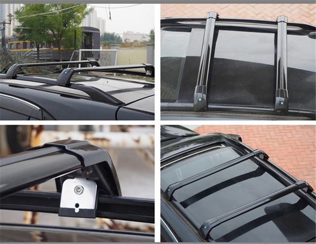 2Pcs Fit for Infiniti QX30 2016-2020 Lockable Crossbars Cross bars Roof Rail Rack Luggage Cargo Carrier Cross Bars - Black