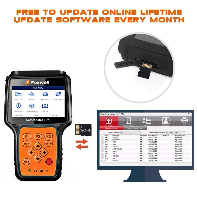 Image 4 - Foxwell nt680 pro todos os sistemas scanner de diagnóstico com luz de óleo/restauração serviço + funções epb versão atualizada do sistema completo nt624Leitores de código & Ferramentas de Verificação   -