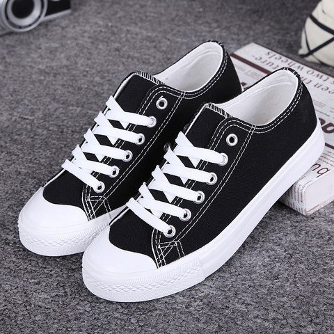 Women sneakers 2019 new white canvas shoes woman summer casual shoes sneakers women students women shoes zapatos de mujer Lahore