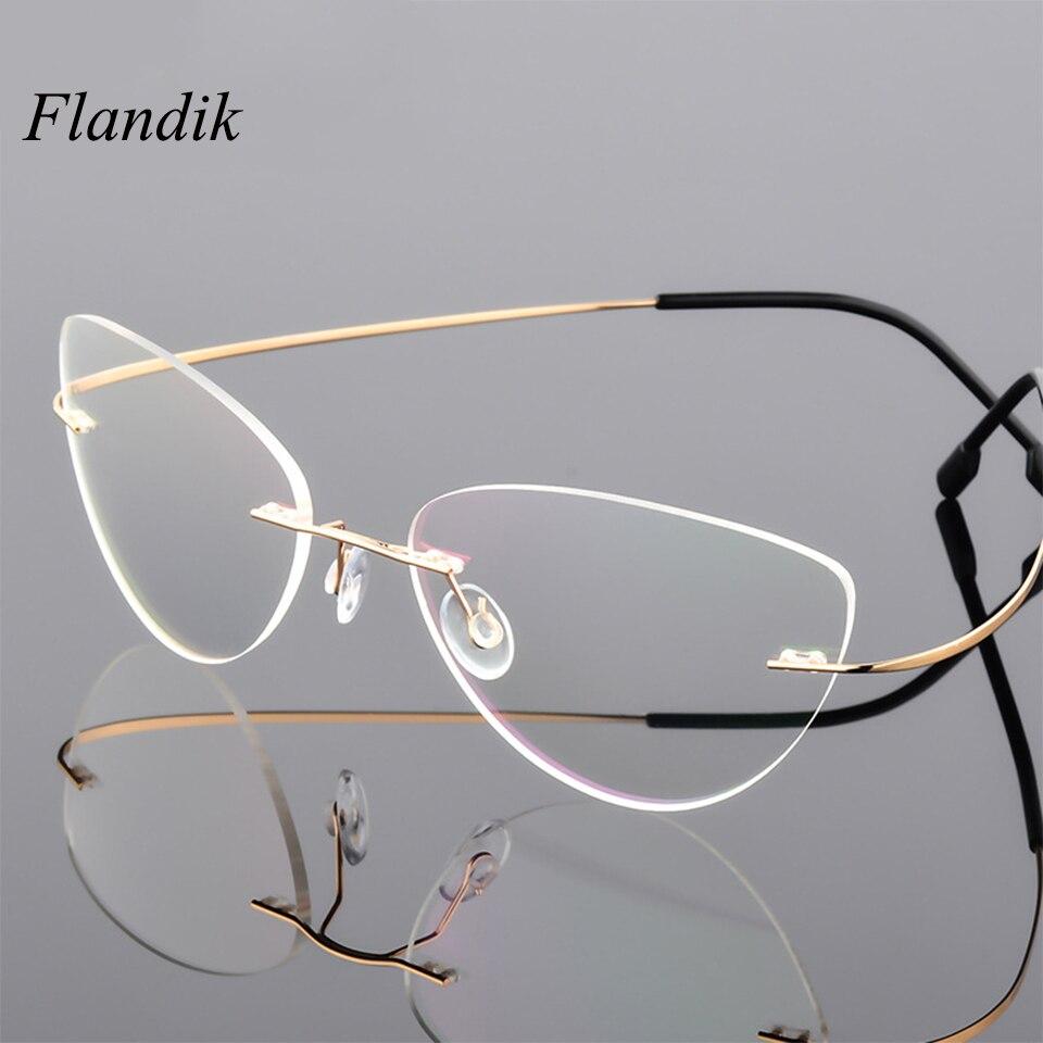 Gafas de lectura tipo ojo de gato para mujer, gafas para presbicia con protección contra rayos azules y ultralivianas, montura de gafas de aleación de titanio + 1,50