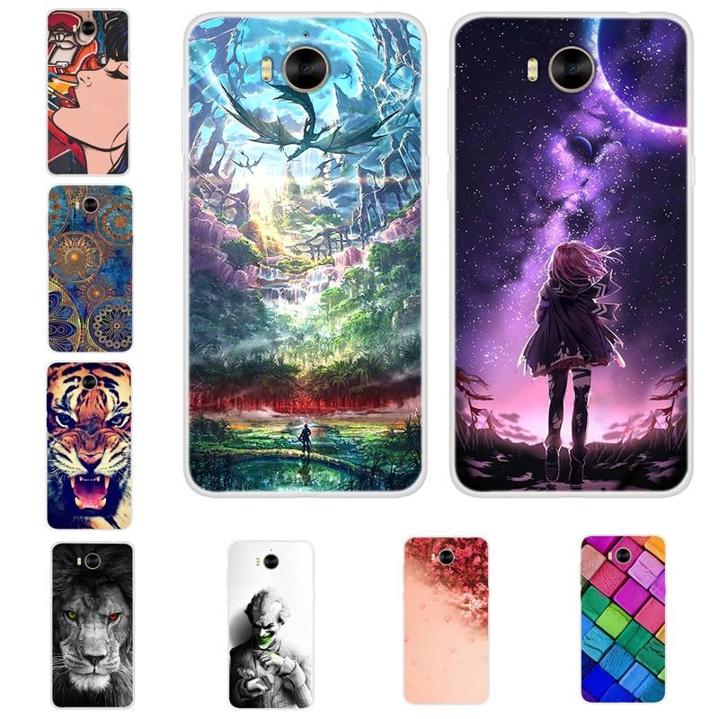 Silicone Case For Huawei Y5 2017 Case Y6 2017 Case Cover Soft TPU Back For Funda Huawei Y6 2017 Nova Young MYA L11 L41 Capas