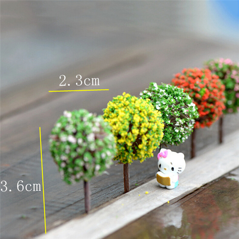 5Pcs/lot Simulation Tree Flower Ball Tree Micro Simulation Landscape Ornaments Accessories For Garden Decoration Home Decor
