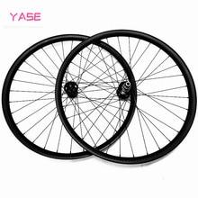 YASE juego de neumáticos para bicicleta de montaña, ruedas de freno de disco de 35mm, sin capucha, 25mm de profundidad, sin cámara, asimetría, cubo BITEX R211 BOOST 110x15 148x12