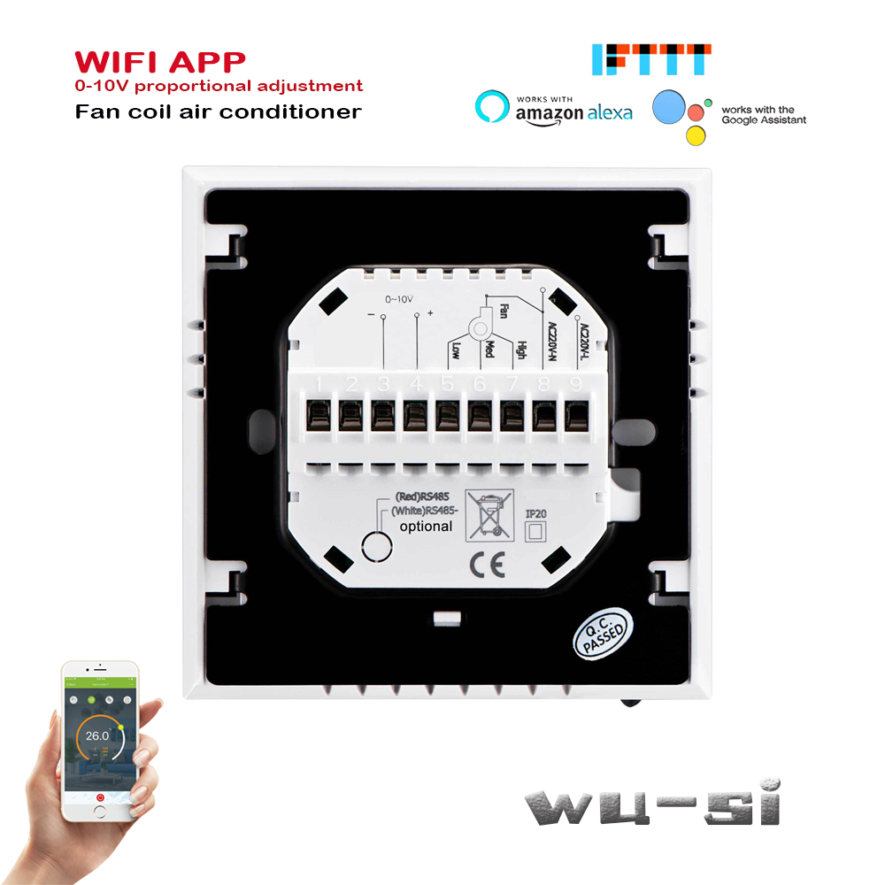 0-10V Proportional Adjustment Wifi Thermostat 2p Heat/cool ,Working With Google Assistant,24v,95-240VAC