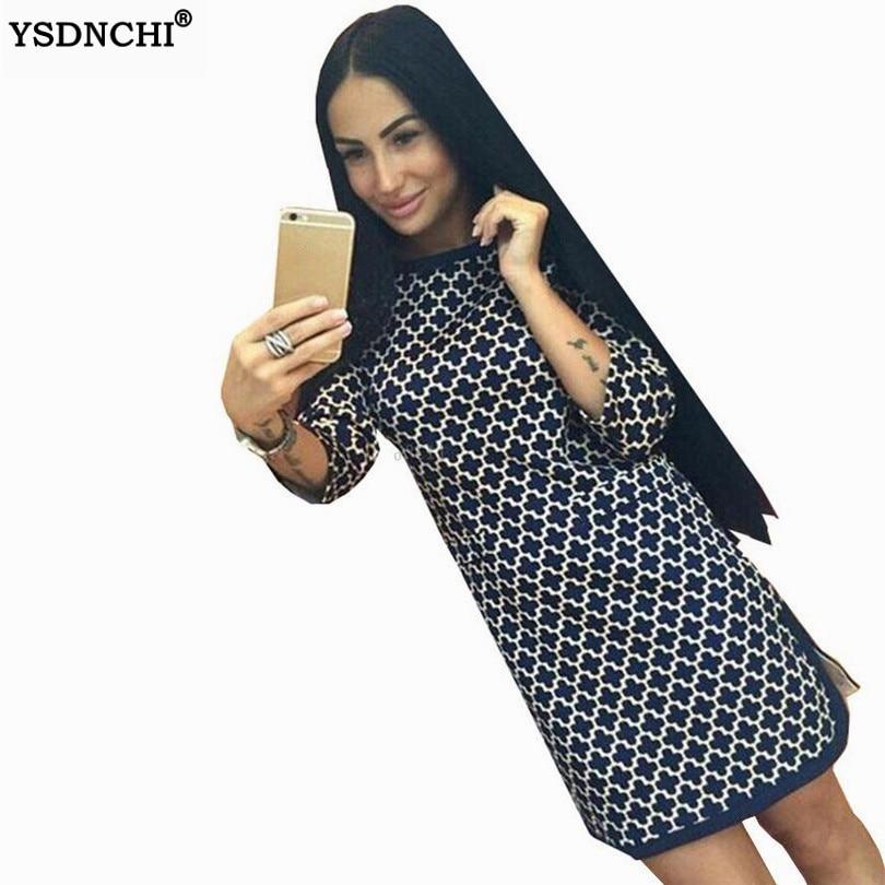 YSDNCHI женское платье с коротким принтом, прямое мини-платье для вечеринки, летнее элегантное платье из полиэстера, летняя повседневная женск...