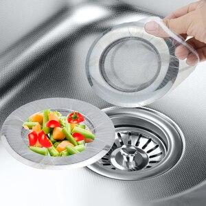 Image 1 - 10/30/50/100 Pcs Keuken Anti Verstopping Sink Filter Wassen Gerechten En Groenten Afvoer Residu filter Vuilniszak