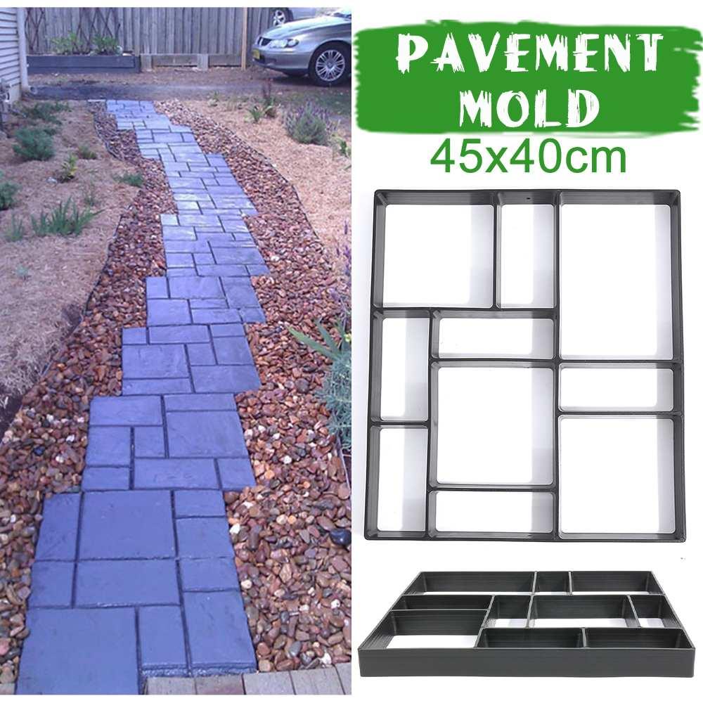 Square Black DIY Paving Mould Floor Mould Paving Floor Cement Mould Garden Walk Pavement Concrete Mould Free Shipping