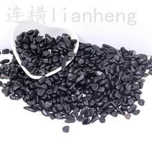 5-7mm preto obsidian cristal de quartzo cascalho degauss purificação pedras naturais usadas para a decoração do assoalho de casa