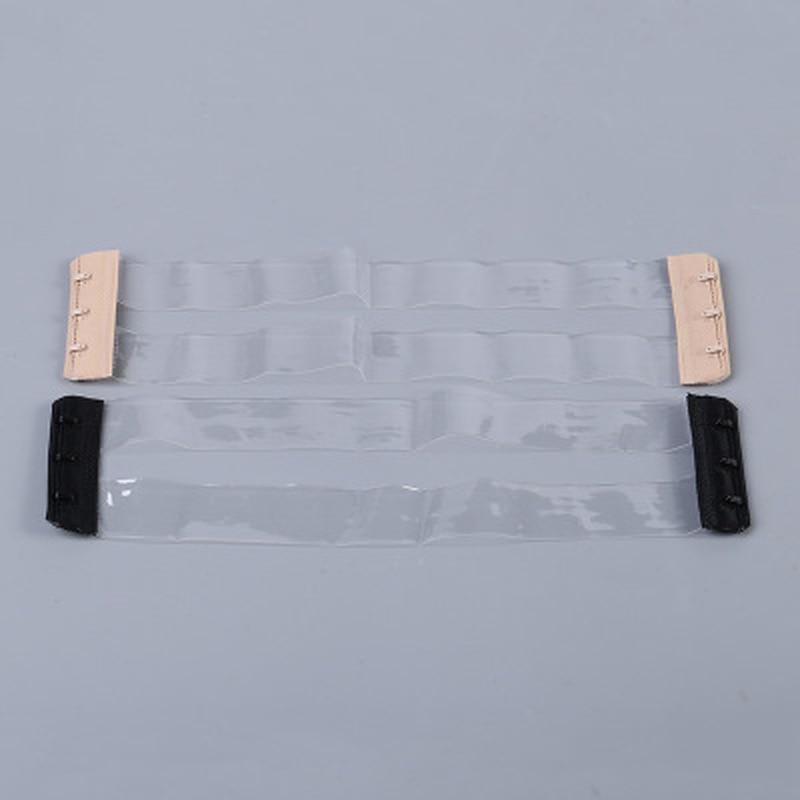 1pc New Silicone Non Slip Buckle Bra Straps Invisible Transparent Bra Strap Elastic Bra Extender Strap Intimates Accessories