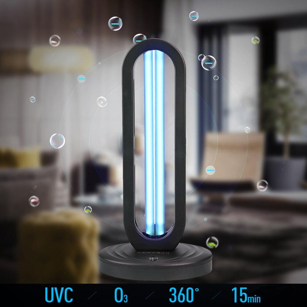 38W Three-block Timer Remote Control US/EU/UK Regulations UV Ozone Sterilization Lamp Household Sterilizer
