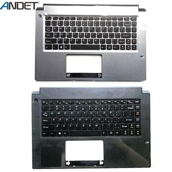 New Original For Lenovo M490S Palmrest Cover Keyboard Bezel Upper Case Silver Black 90202361 90202360