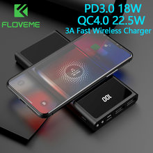 FLOVEME Power Bank 20000mAh QC4.0 22.5W For iPhone12 Type C PD3.0 18W PoverBank For xiaomi 3A Fast Wireless Charger Powerbank
