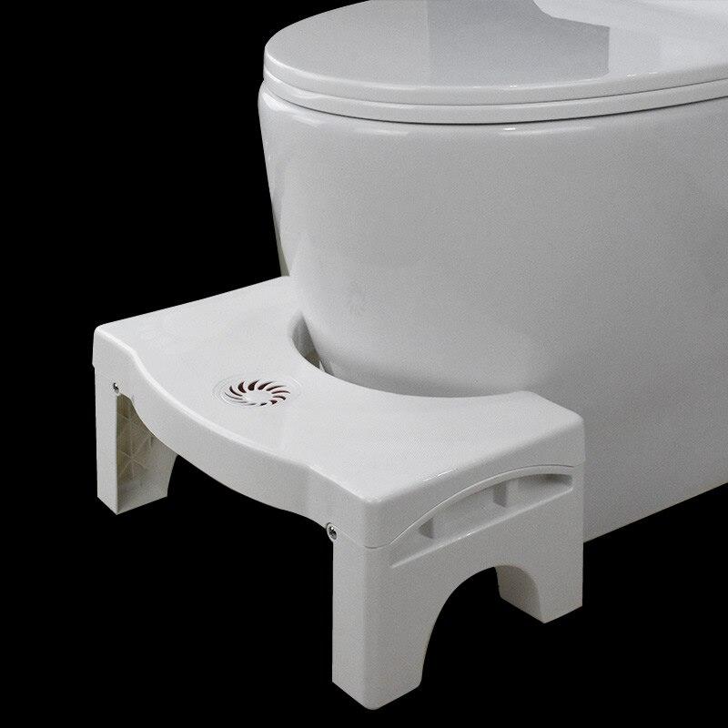 Em forma de u agachamento toalete tamborete antiderrapante banheiro ajudante assistente pé assento alivia a constipação pilhas 40*250*170mm